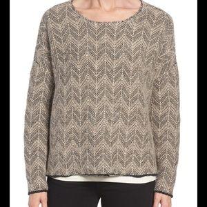 Eileen Fisher Pebbled Chevron Alpaca Sweater Sz M
